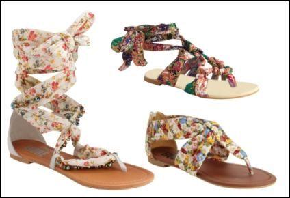 Tie Ankle Wrap Sandals.