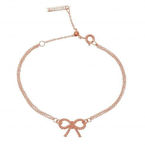 Vintage Bow Chain Bracelet Rose Gold | Olivia Burton London