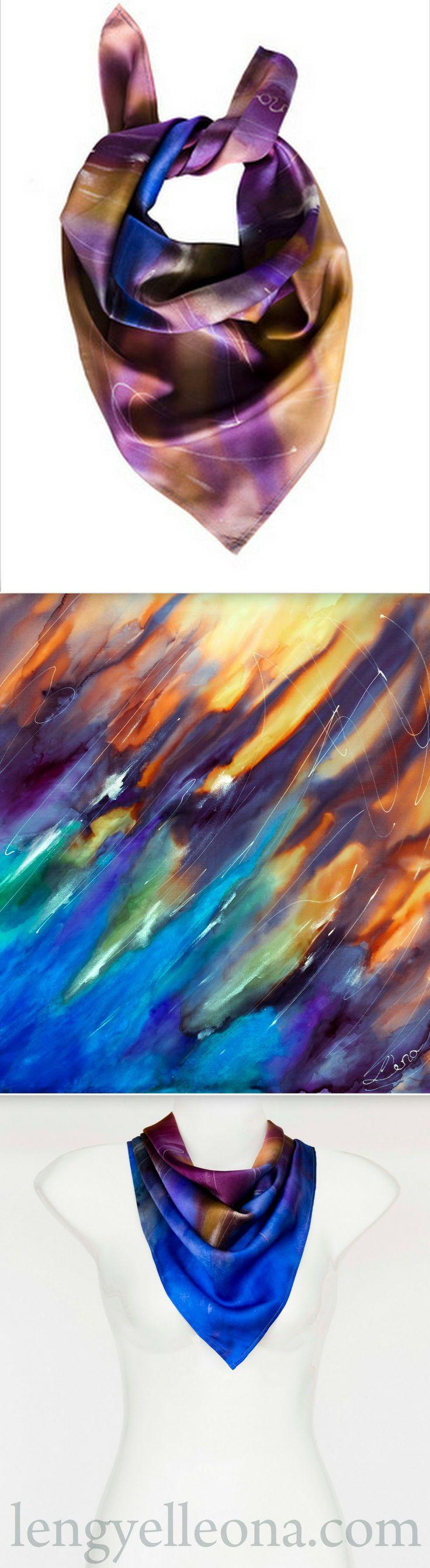 LENGYEL LEONA ONLINE SHOP http://www.lengyelleona.com/purple-rain-neckerchief…