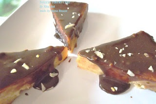 tarta de yogur con salsa de chocolate...receta en español