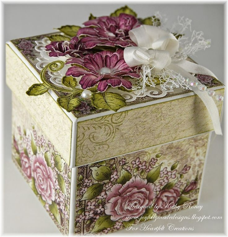 Kathy Roney - Joyfully Made Designs: Majestic Blooms Box - Heartfelt Creations - 9/3/14