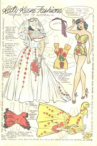 LARGE LOT OF UNCUT KATY KEENE COMIC PAPER DOLL PAGES 1950s | eBay