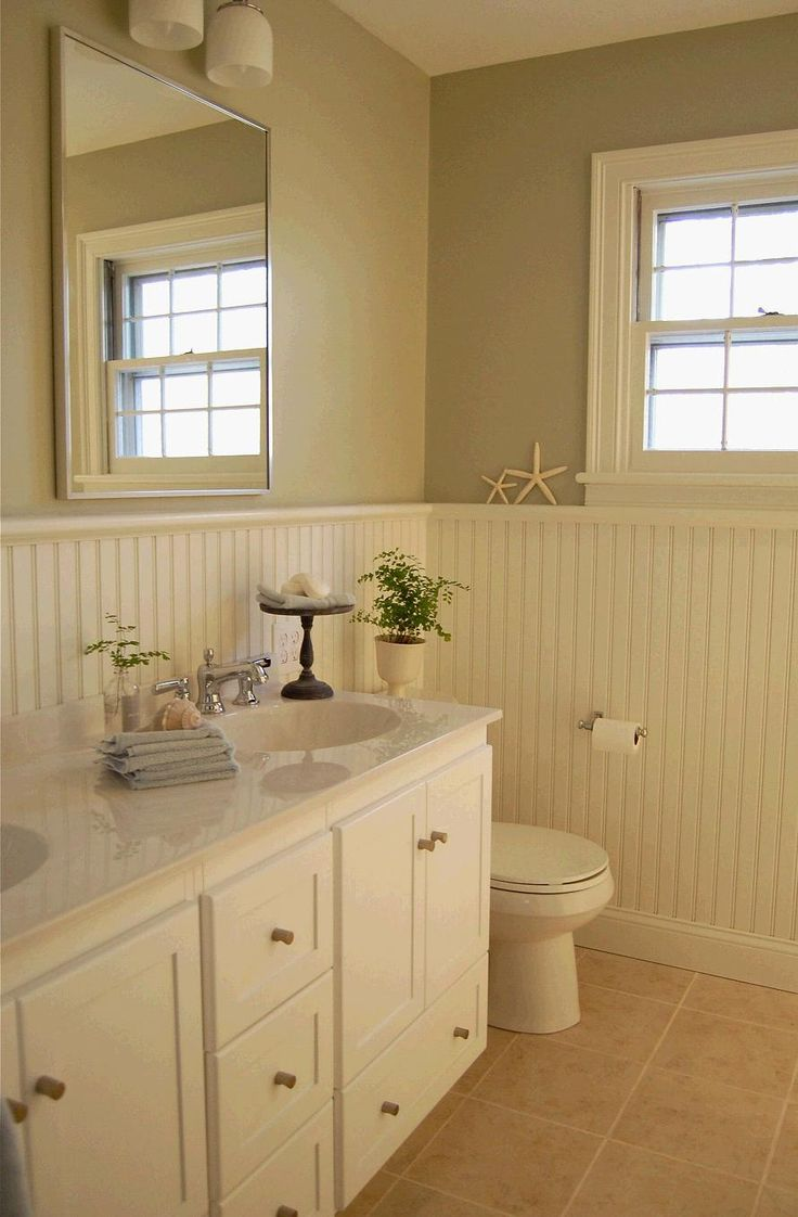 Good colors for bathrooms with ivory fixtures - Red Door Home Master Bath Remodel