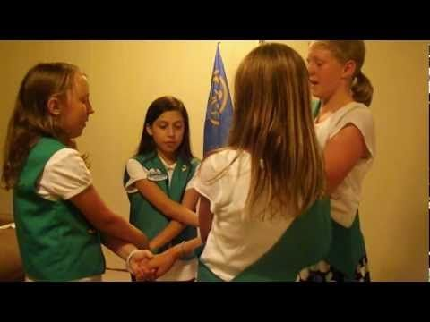 Brownie Smile Song and how to close a troop meeting with the friendship song.