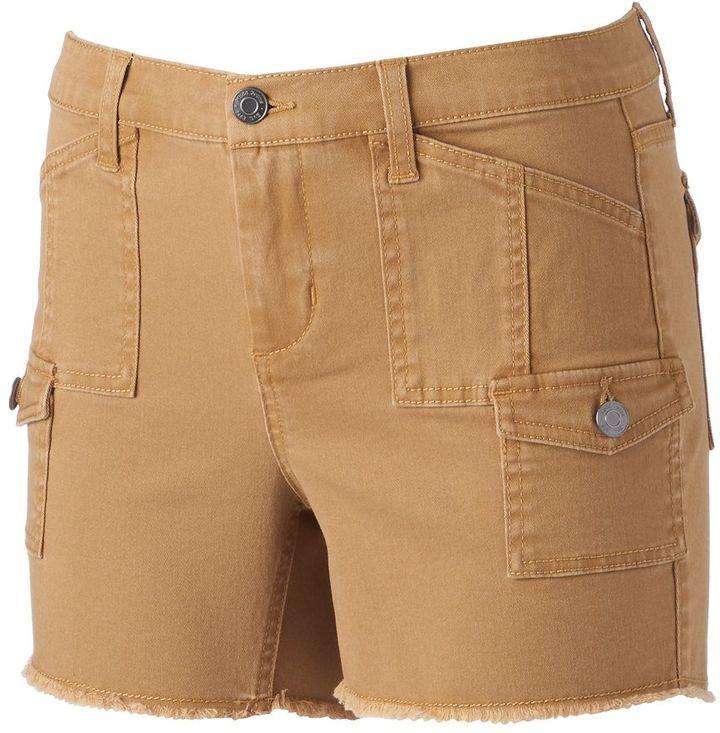 Juniors' Mudd® Cargo Utility Midi Shorts