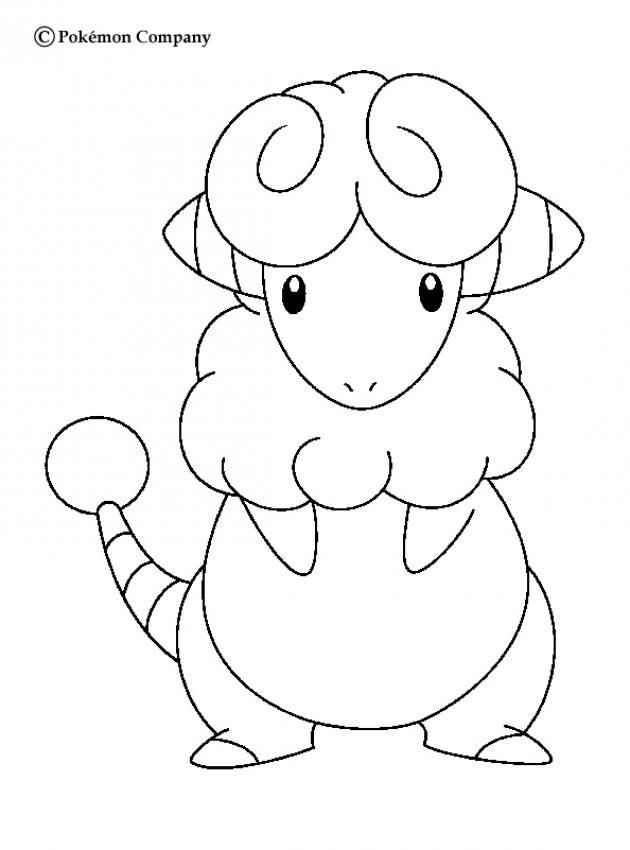 Flaaffy Pokemon Coloring Page. Color In This Flaaffy Pokemon Coloring Page  And Others With Our Library Of Online Coloring Pages!