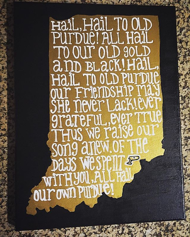 Made some new art. @lifeatpurdue #purdue #purduealumni #boilerup