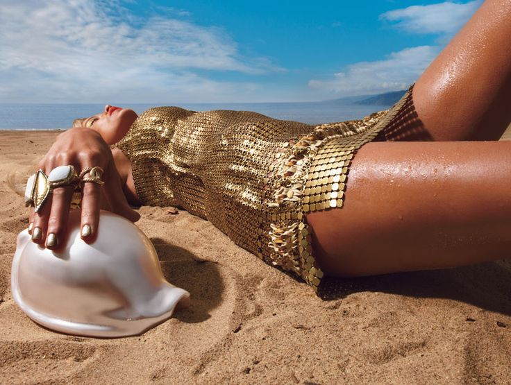 Gold Digger - gold swimsuits emma summerton-Wmag
