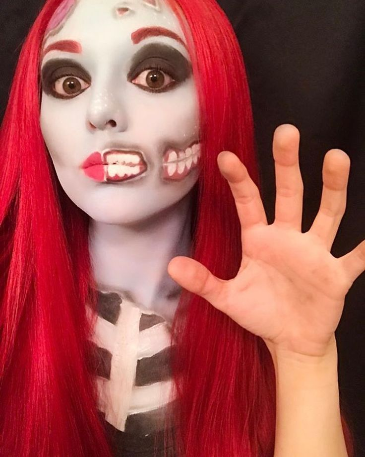 """(@chrmille) on Instagram: """"Day 11- Zombie #zombie #zombiemakeup #zombiepopart @donalovehair (This wig is everything ) #mehron…"""""""