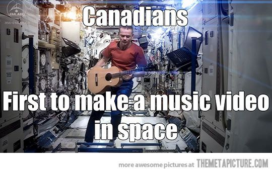 Canadians:  we rock on so many levels.