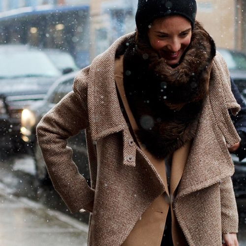 layers: Fur Scarves, Winter Layered, Winterfashion, Fall Wint, Jackets, Street Styles, Winter Fashion, Winter Coats, Cold Weather