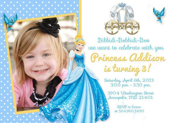 55 best cinderella invitations images on pinterest | cinderella, Birthday invitations