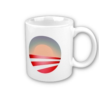 obama sunset, obama sunset, January 20, 2013, T... Coffee Mugs