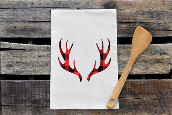 Check out this item in my Etsy shop https://www.etsy.com/ca/listing/567194575/plaid-moose-antlers-tea-towel
