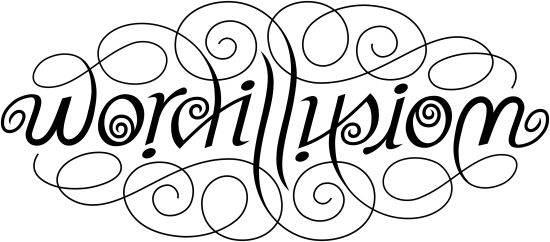 She makes custom ambigrams word says for Tattoos that say something different upside down