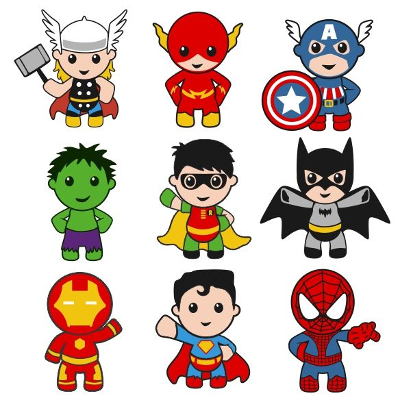 Superhero Baby Boy Cuttable Designs