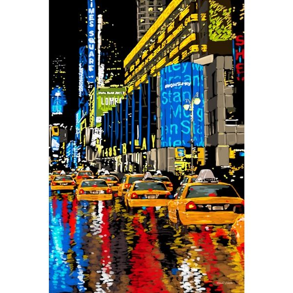New York Taxi Street City Canvas Wall Art Picture Print Va: 22 Best The Artful Taxi Images On Pinterest
