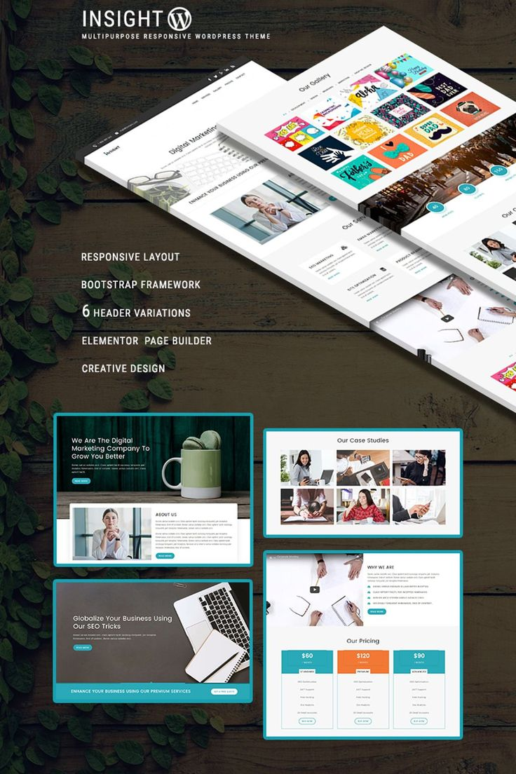 Get our INSIGHT - Multipurpose Responsive WordPress Theme. It is fully responsive and built with Bootstrap and will perfectly fit for startup, SEO, finance, consulting, corporate, marketing and digital agencies.   #wordpress #wordpresstheme https://www.templatemonster.com/wordpress-themes/insight-multipurpose-responsive-wordpress-theme-68557.html/