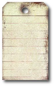 *Memory Box DISTRESSED TAG Craft DIE 98244  Good for mini albums inserts