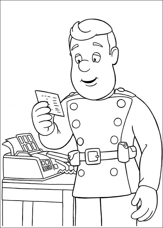 13 best Fireman Sam Coloring Pages images on Pinterest  Fireman