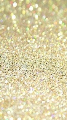 Gold glitter scattered on tables