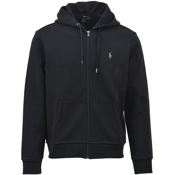 Logoed Zip Up Hoodie ($98) ❤ liked on Polyvore featuring men's fashion, men's clothing, men's hoodies, black, mens hoodies, mens sweatshirts and hoodies and mens zip up hoodies
