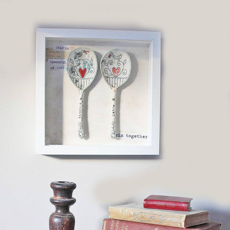 personalised framed ceramic spoons by sarah jones-morris ceramics   notonthehighstreet.com