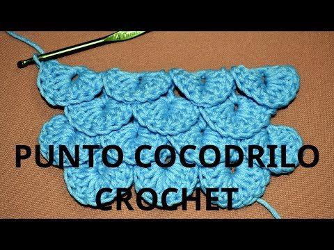 Como tejer el Punto Cocodrilo o Escama en tejido crochet tutorial paso a paso. - YouTube