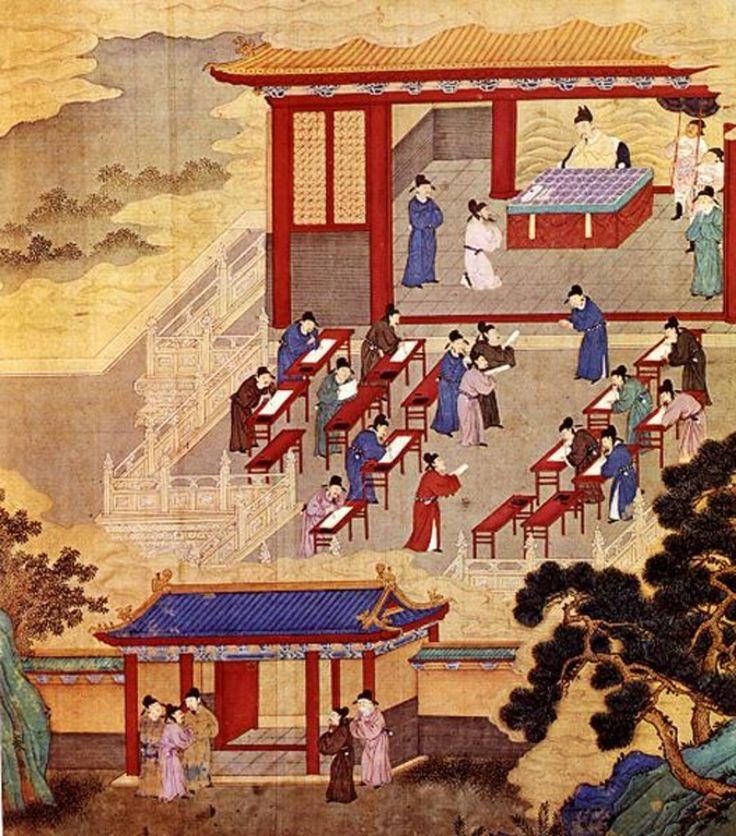 Çin Tapınak Okulu - eğitim tarihi