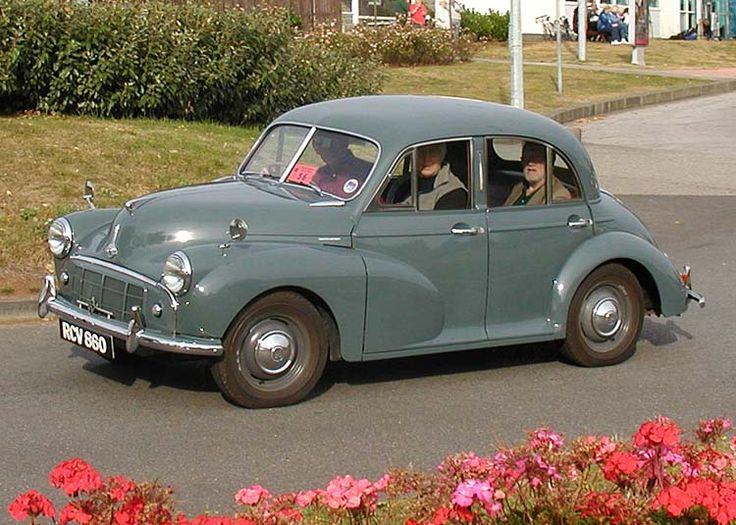 Morris Minor Eight. This was my first driving experience. My mother's Minor - just like this one - up and down our driveway, aged 13, in Hout Bay, near CapeTown, ca. 1958!