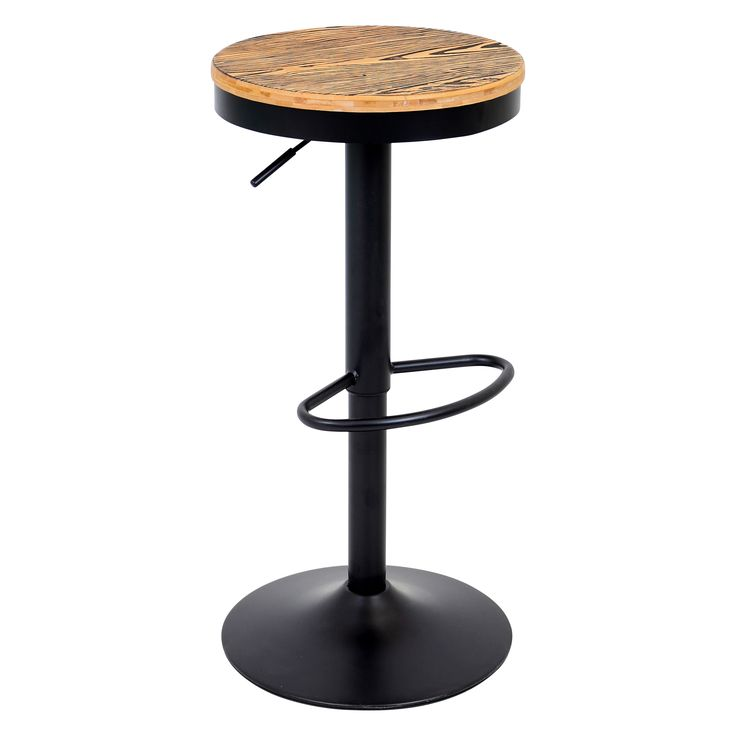 Condo bar stools Add style to your kitchen or bar area with the Dakota Rustic Bar Stool. This bar stool showcases a 360-degree swivel with height adjustable function, as well as a footrest for comfort.