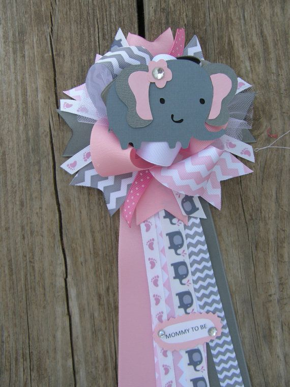 Beautiful Elephant Baby Shower Corsage