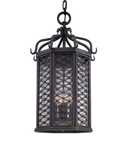 Troy Lighting F2378OI Los Olivos 4 Light 14 inch Old Iron Outdoor Hanging Lantern in Incandescent #LightingNewYork