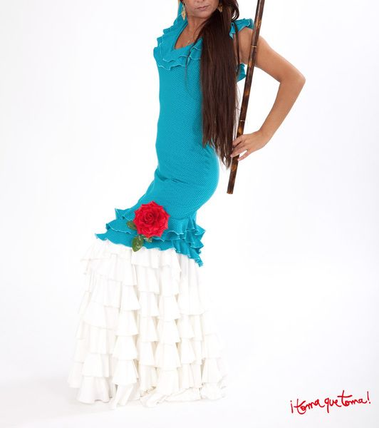 Knielange Kleider - Flamenco-Minikleid - ein Designerstück von Tomaquetoma. Auf  www.tomaquetoma.de