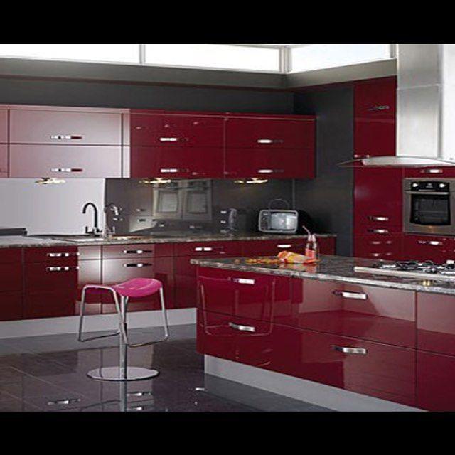 Die besten 25+ Küche rot hochglanz Ideen auf Pinterest - wohnzimmer gelb orangenobilia k chen g nstig kaufen