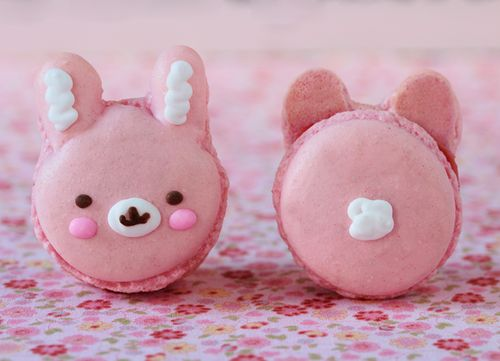 bunny macarons - I wish there was a dress print with these on it!!!
