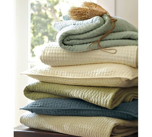 Summer Bedding: Summer Quilts, Guest Bedrooms, Euro Shams, Master Bedrooms, Pick Stitches Quilts, Blue Quilts, Barns Pickstitch, Barns Quilts, Pottery Barns