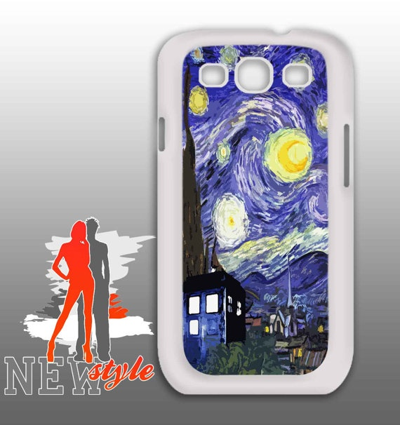 samsung galaxy  Van Gogh Tardis Starry Night by NewStyleDesign, $16.50