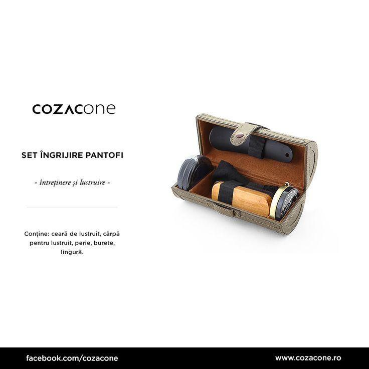 Un set de întreținere perfect pentru colecția ta de pantofi din piele: http://www.cozacone.ro/produse/?cat=pantofi