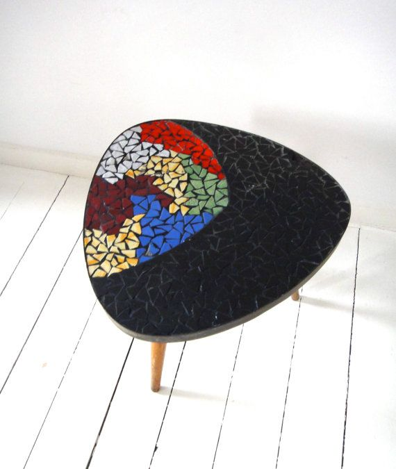 Jaren 50/60 bijzettafeltje, Retro, Lovely sidetable form the 50/60s, Color Bust