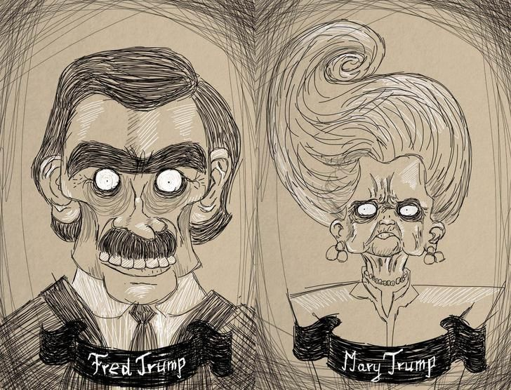 I Saw A Meme About Trump S Parents Looking Like They Came From A Tim Burton Cartoon So I Drew Them In That Style Tim Burton Cartoon Memes