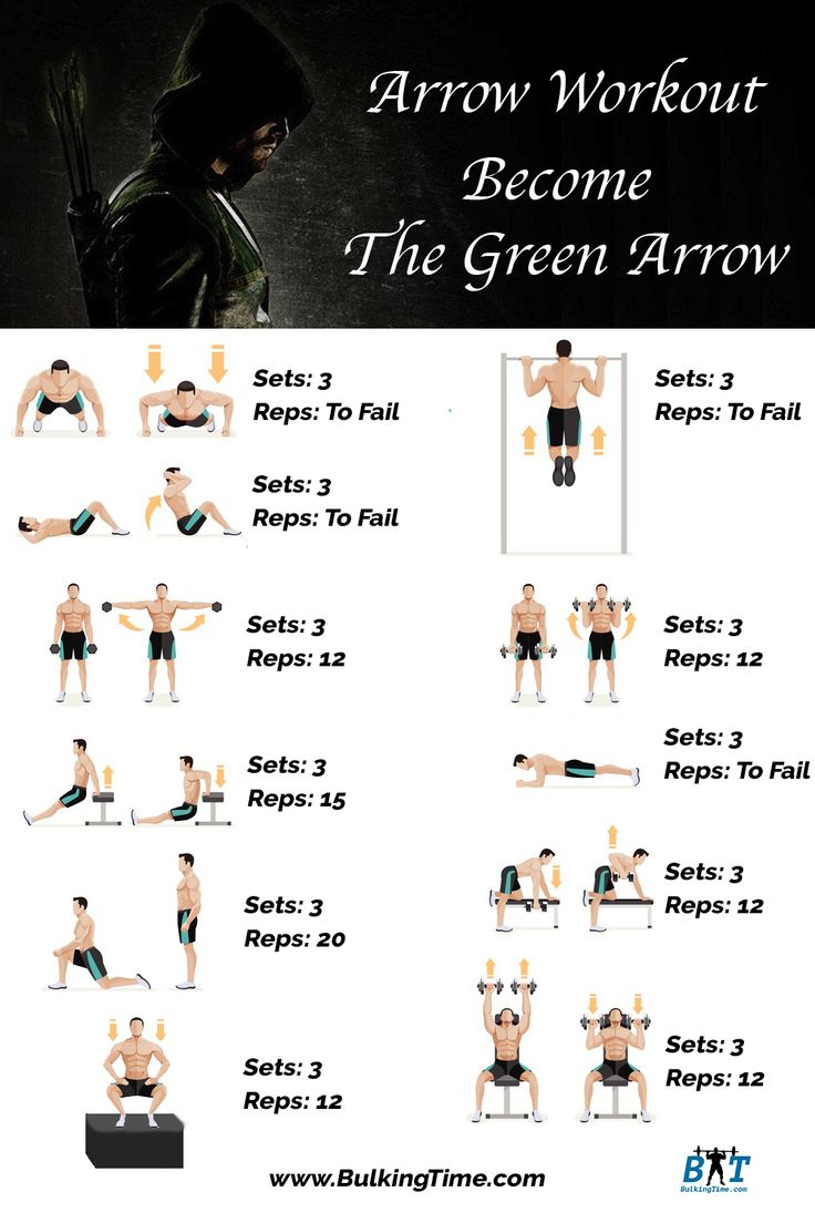 Stephen Amell Arrow Workout Routine - BulkingTime.Com