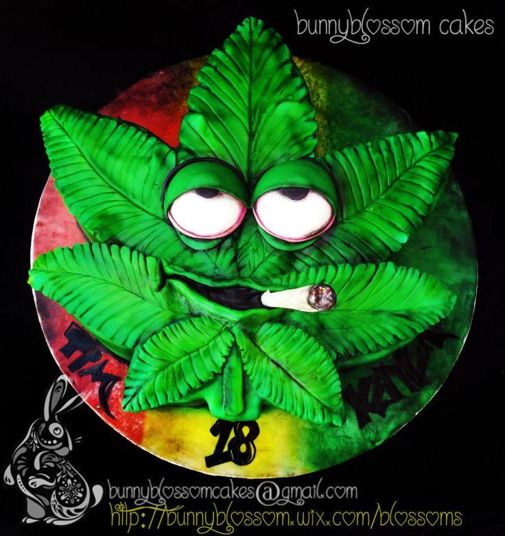 Bob Marley Weed Cake | Rasta Theme cake - Cake by BunnyBlossom - CakesDecor