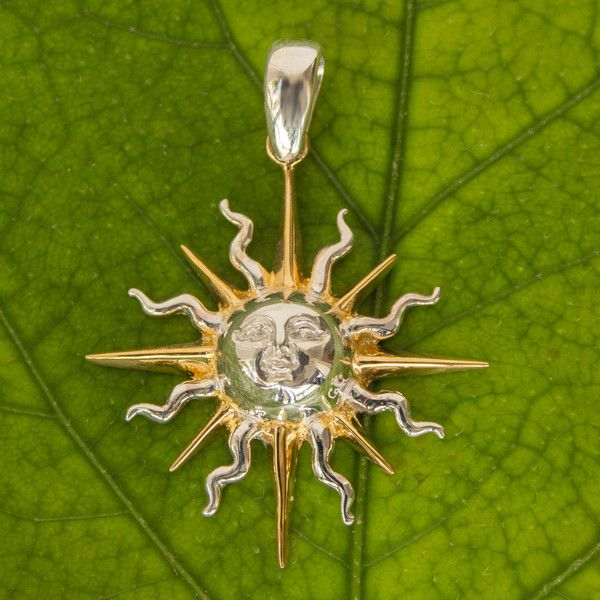 NOVICA Hand Made Sun and Moon Gold Accent Pendant (1,355 MXN) ❤ liked on Polyvore featuring jewelry, pendants, clothing & accessories, gold accent, jewelry for men, novica, pendant jewelry, novica jewelry, golden jewelry and gold pendant