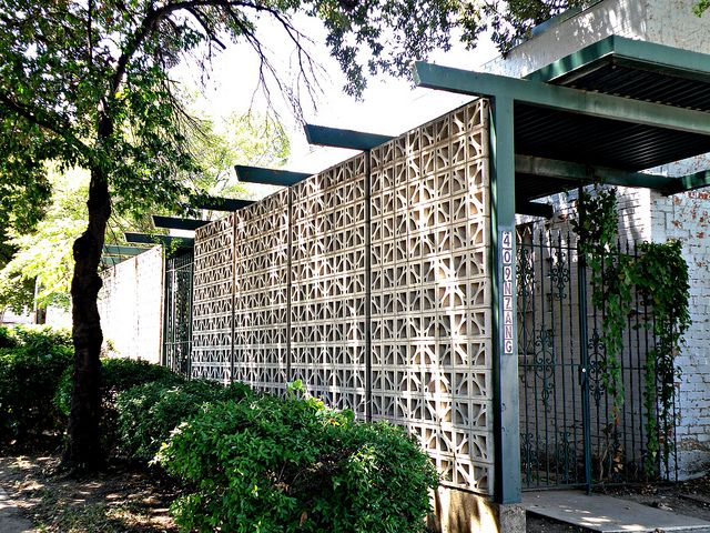Nice for privacy fencing/// Mid-Century Modern Concrete Screen | Flickr - Photo Sharing!