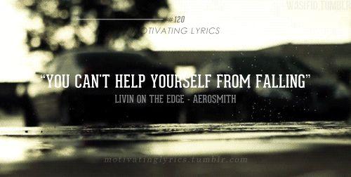 AEROSMITH - LIVIN' ON THE EDGE LYRICS