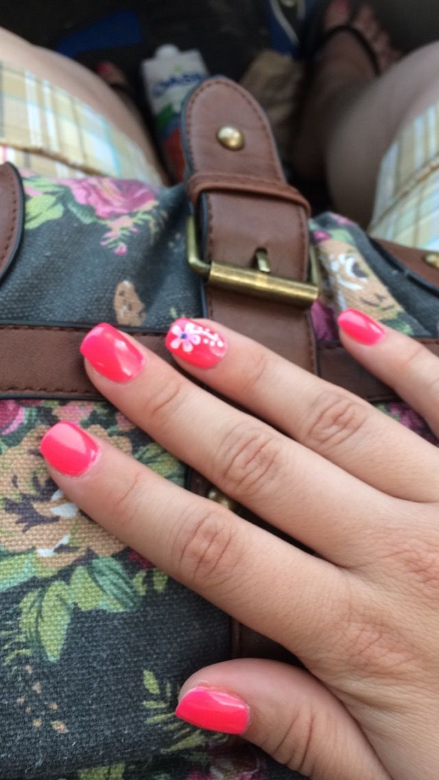 13 best my nail designs images on pinterest nails design nail summertime pink with flowers prinsesfo Choice Image