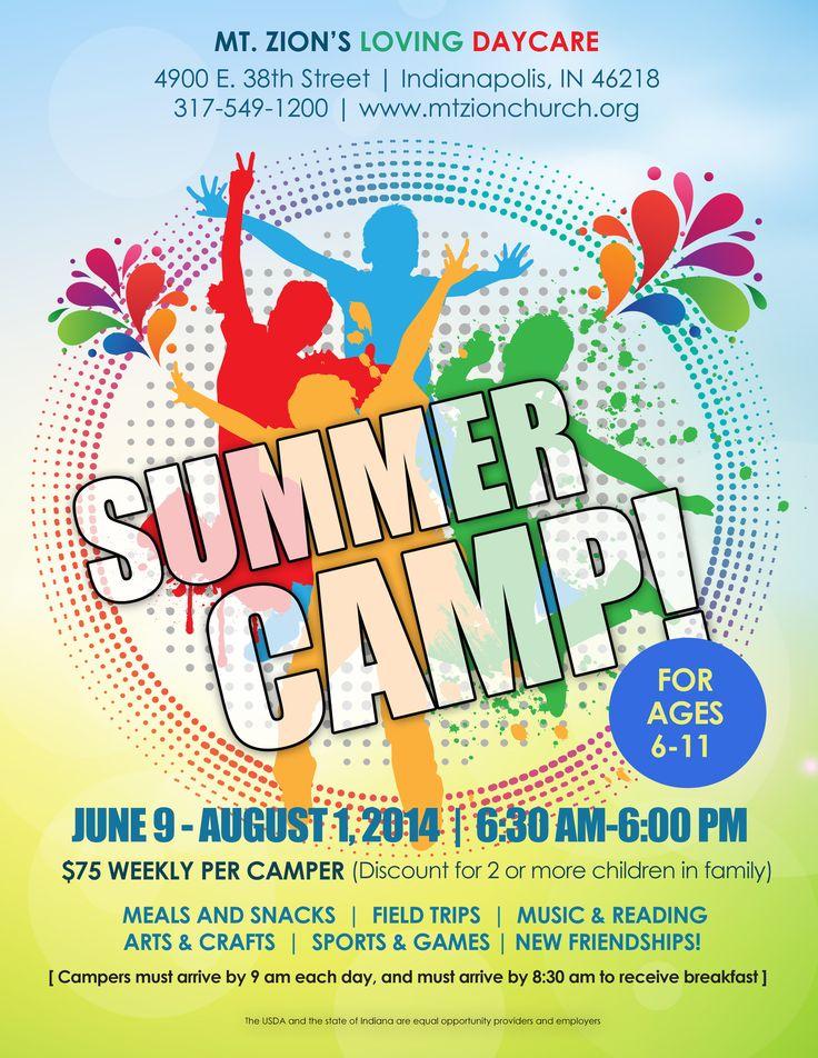 summer camp flyer idea