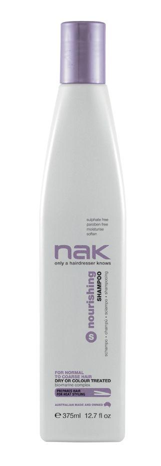 nak nourishing shampoo / designed for normal to coarse hair - dry or colour treated #sulphatefree #parabenfree #moisturise #soften