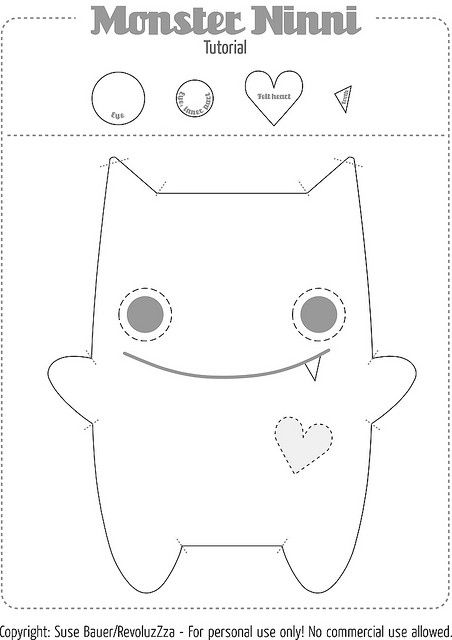 Free Monster Sewing Pattern | Recent Photos The Commons Getty Collection Galleries World Map App ...